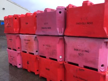 Don Fishing Company Operations Kinlochbervie Bins and Boxes